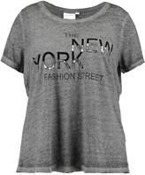 Junarose JRILVANA Print Tshirt medium grey melange