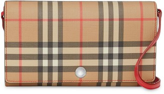 Burberry Vintage Check Wallet with Detachable Strap