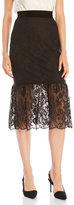 ABS by Allen Schwartz Lace Mermaid Hem Skirt
