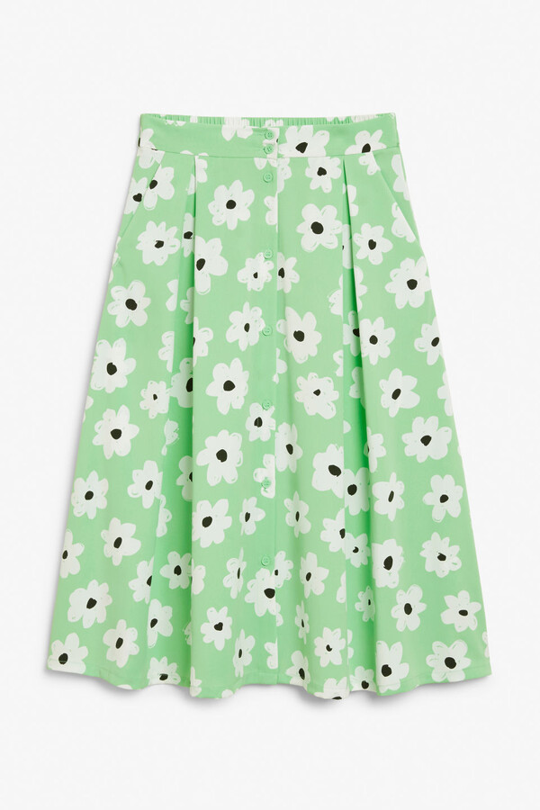 Thumbnail for your product : Monki Button-up midi skirt