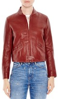Sandro Sweetjane Leather Jacket