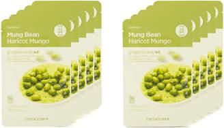 The Face Shop Real Nature Mung Bean Face Mask Pore Detox 10Pk
