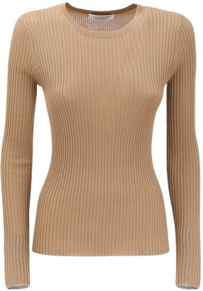 Gabriela Hearst Cashmere & Silk Rib Knit Sweater