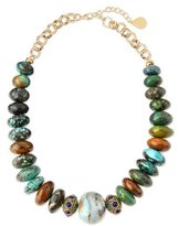 Devon Leigh Beaded Opal Necklace, Multi