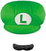 Youth Super Mario Brothers Luigi Hat & Mustache Costume Accessories Set