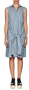 Yohji Yamamoto Regulation Women's Linen-Cotton Chambray Shirtdress - Blue