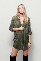 CP Shades x Free People Womens COZY VELVET SHIRT DRESS
