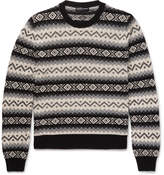 Alexander McQueen Fair Isle Cashmere Sweater - Black