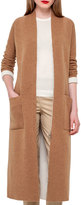 Akris Long Knit Reversible Car Coat, Camel/Moonstone