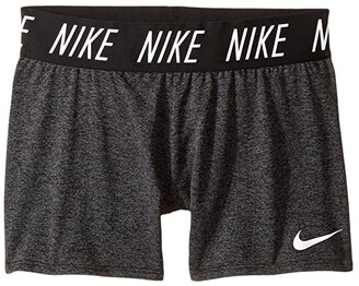 Nike Kids Dry Trophy Short (Little Kids/Big Kids) (Black/Heather/White) Girl's Shorts