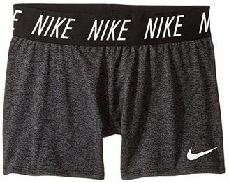 Nike Kids Dry Trophy Short (Little Kids/Big Kids) (Black/Heather/White) Girl's Shorts