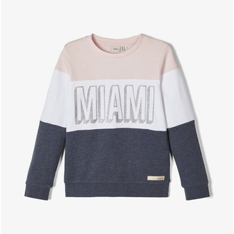 Name It Cotton Crew-Neck Sweatshirt, 7-14 Years