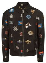 Alexander Mcqueen Badge Embroidered Blouson Jacket