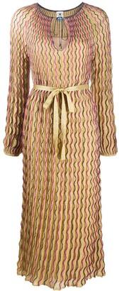 M Missoni Wave-Print Knitted Dress