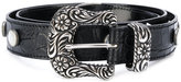 MM6 MAISON MARGIELA antique silver embossed belt - women - Cotton/Polyamide/Polyester/copper - S