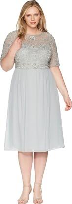 Adrianna Papell Women's Beaded Midi Dress Plus Size