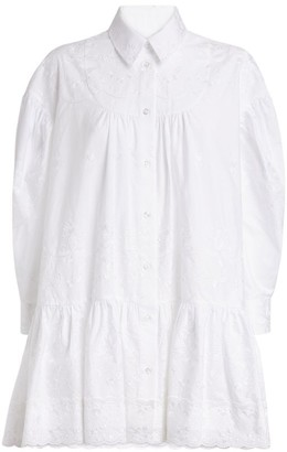 Simone Rocha Embroidered Maxi Shirt Dress