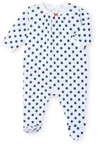 Petit Bateau Baby girls polka dot tube knit pajamas