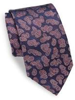 Isaia Paisley Patterned Silk Tie