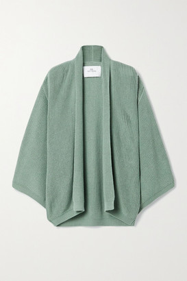 I Love Mr Mittens Oversized Ribbed Cotton Cardigan - Green