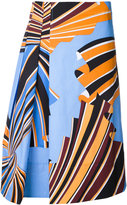 Emilio Pucci floral print skirt - women - Cotton/Spandex/Elastane - 38