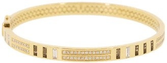 Harwell Godfrey 18kt Yellow Gold Diamond Topaz Bangle