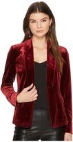 1 STATE 1.STATE - Velvet Tuxedo Blazer Women's Jacket