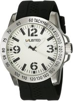 Kenneth Cole New York Kenneth Cole Unlisted Men's Silver Tone Brass Black Silicone Watch UL10026717