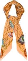 Gucci Orange Printed Scarf