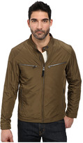 Cole Haan Lightweight Packable Moto Jacket with Camo Lining
