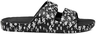 Freedom Moses Lily Rose Floral-Print Two-Strap Slides