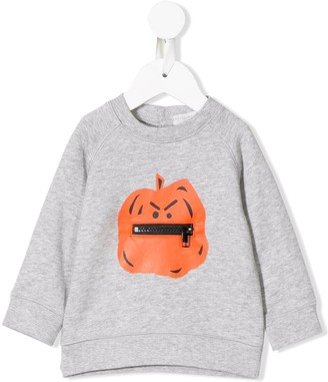 Stella Mccartney Kids Pumpkin Print Sweatshirt