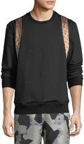 MCM Stark Visetos Backpack-Detail Sweatshirt