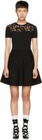 Valentino Black Knit Butterfly Dress