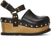Sacai Black Clog Sandals