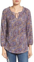 Lucky Brand Moroccan Paisley Peasant Top