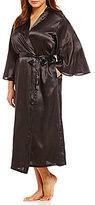 Oscar de la Renta Plus Long Charmeuse Wrap Robe