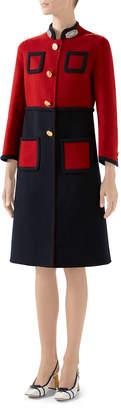 Gucci Bicolor Wool Coat