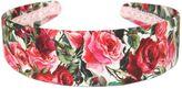 Dolce & Gabbana Roses Print Silk Blend Brocade Headband
