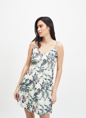Miss Selfridge Multi Colour Tropical Print Mini Tea Dress