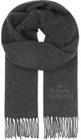 Vivienne Westwood Logo wool scarf