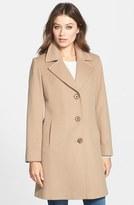 Fleurette Petite Women's Notch Collar Wool Walking Coat