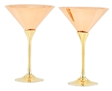 Old Dutch Metallic Martini Glasses (Set of 2)