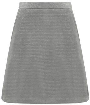 Être Cécile Flared Metallic Knitted Mini Skirt