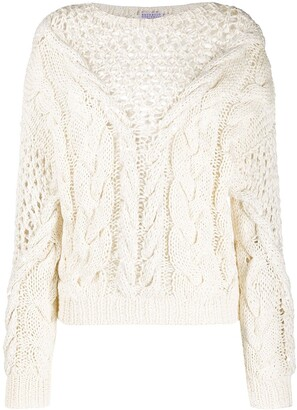 Brunello Cucinelli Oversized Open-Knit Jumper