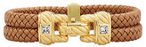 Judith Ripka Sterling/14K Gold Clad Braided Double Row Bracelet