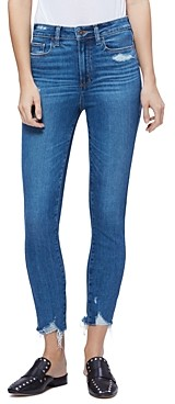 Paige Hoxton Ankle Skinny Jeans in Jazlyn Destructed