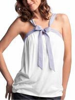 Woven bow cami