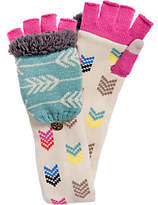 Muk Luks Women's Multi Long Flip Mittens