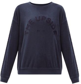 The Upside Florencia Cotton-blend Terry Sweatshirt - Navy